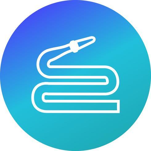 Icona di vettore del tubo flessibile