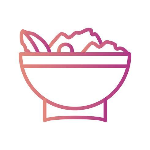 Vector icono de ensalada