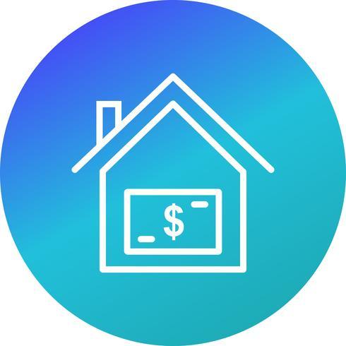 Icona di vettore di prezzo casa