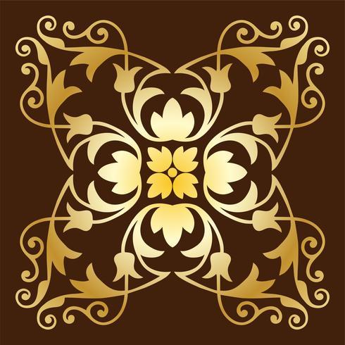 modello di piastrelle decorate oro