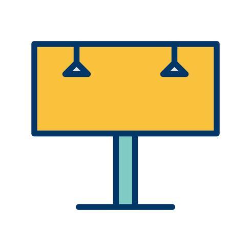 icône de vecteur de billboard