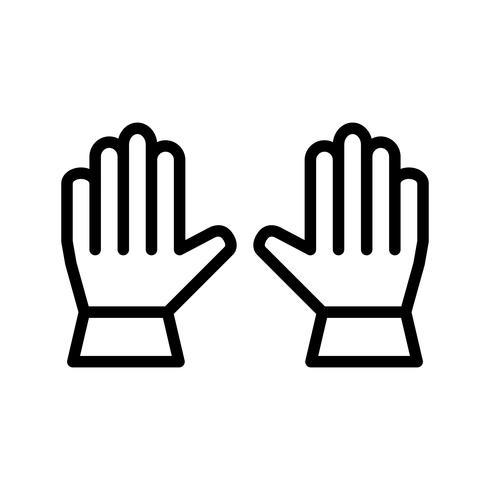 Icona di vettore di guanti