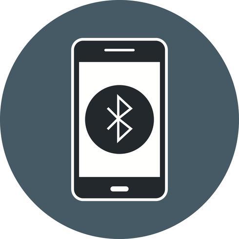Icona di vettore di applicazione mobile Bluetooth
