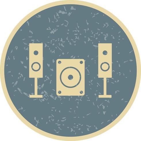 Ícone de vetor de sistema de música