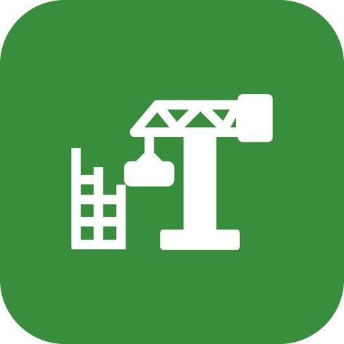 Icona di vettore della casa della costruzione