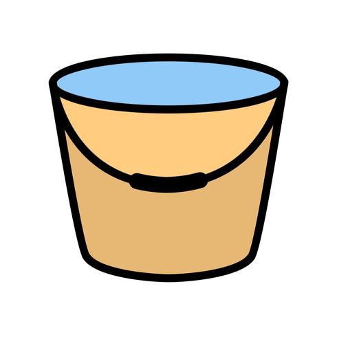 Ícone de vetor de balde