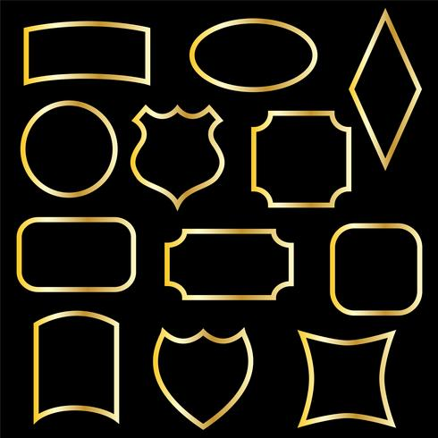 molduras douradas metálicas