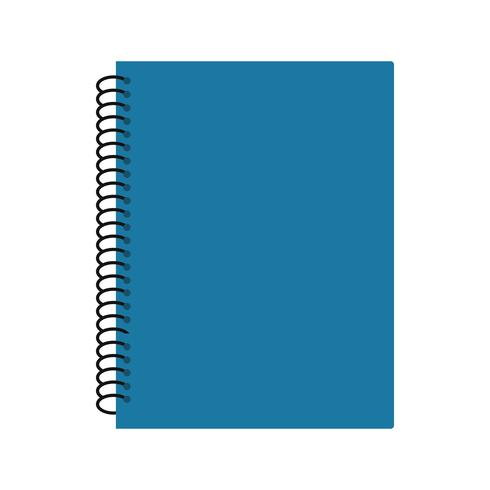 Icône de cahier à spirale de vecteur