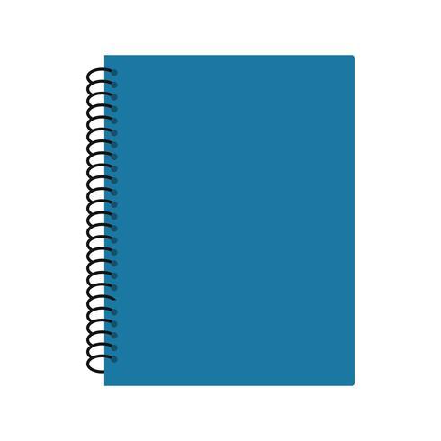 Ícone de caderno espiral de vetor