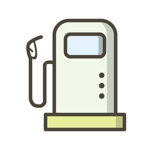 Ícone de vetor de estação de combustível