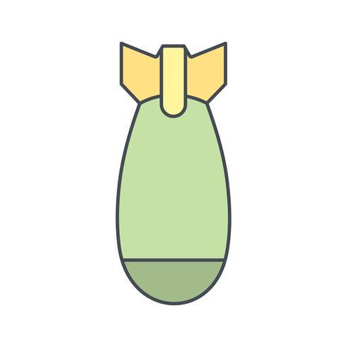 Icona di vettore di bomba