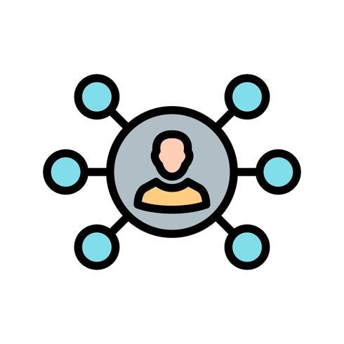 Compartiendo icono de vector