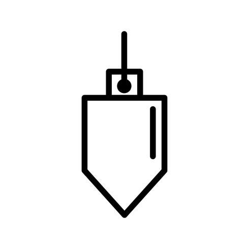 icône de vecteur de fil à plomb