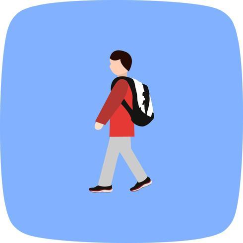 Vector caminhando para o ícone da escola