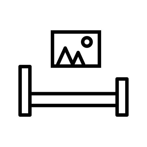 Schlafzimmer Vektor-Symbol