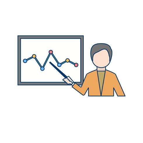 Icona di presentazione vettoriale