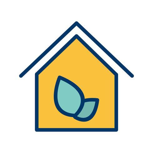 Öko-Haus-Vektor-Symbol