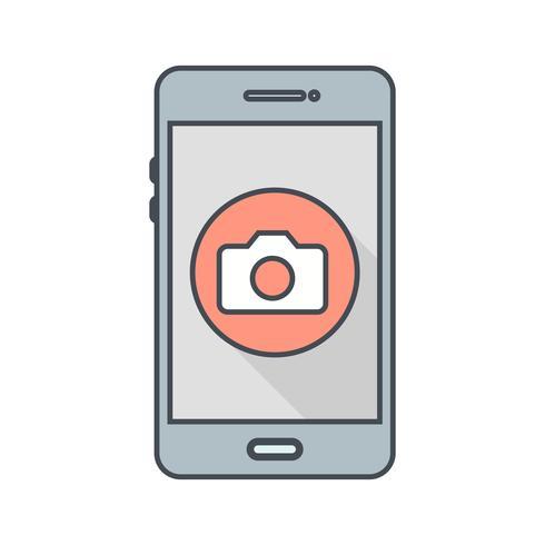 Ícone de vetor de aplicativo móvel da câmera