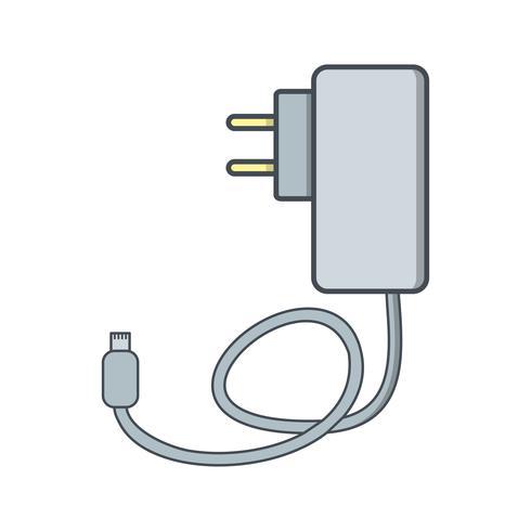 Ícone de vetor de carregador móvel