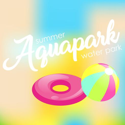 """Text """"Aquapark"""" på en suddig bakgrund"""