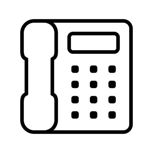 Icono de vector de telefono