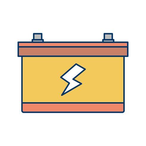 Icono de vector de batería