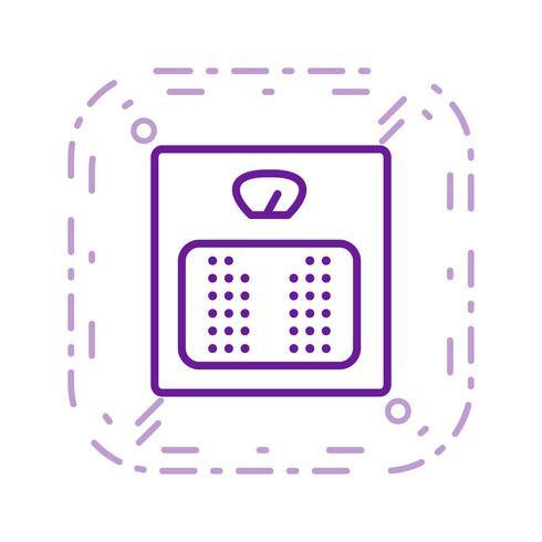 Icono de Vector de máquina de peso