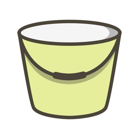 Icona di vettore del secchio