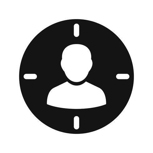 Apuntar icono de vector