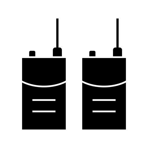 walkie talkie vector pictogram