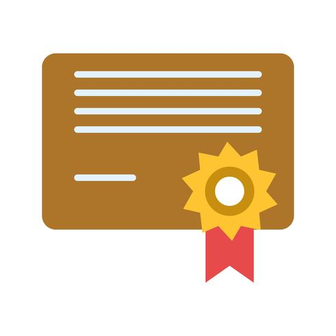 Ícone de Diploma de vetor