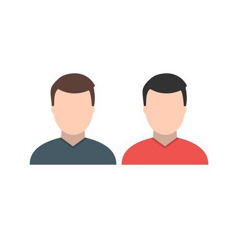 Gente, vector, icono