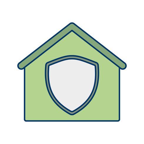 Casa Protegida Vector Icon