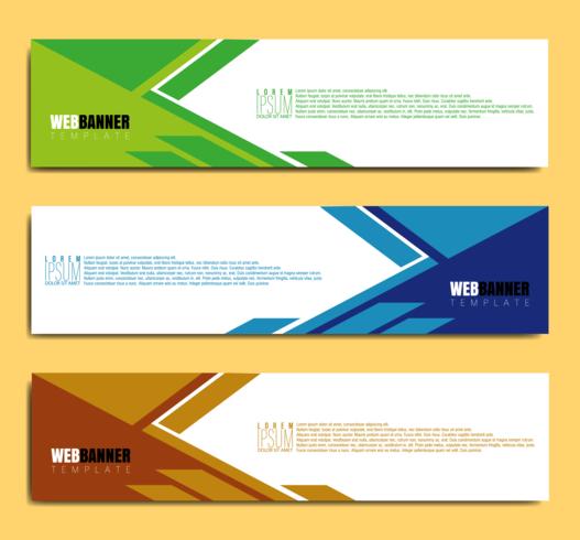 abstraktes Banner-Webdesign