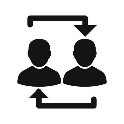 Icono de vector de intercambio