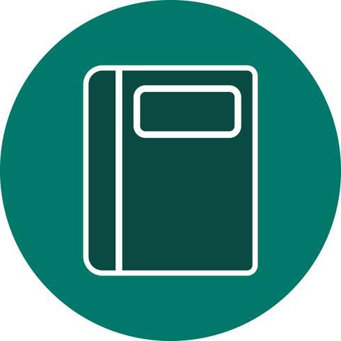 Vector ícone de caderno