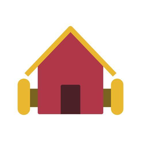 Ícone de vetor de casa de fazenda
