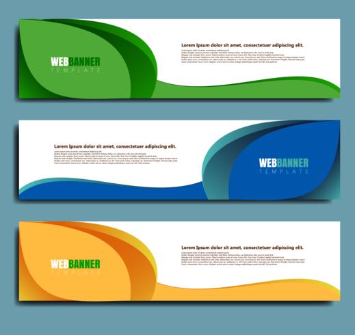 projeto de banner web abstrata