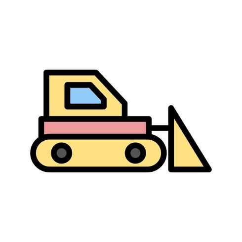 icône de vecteur de bulldozer
