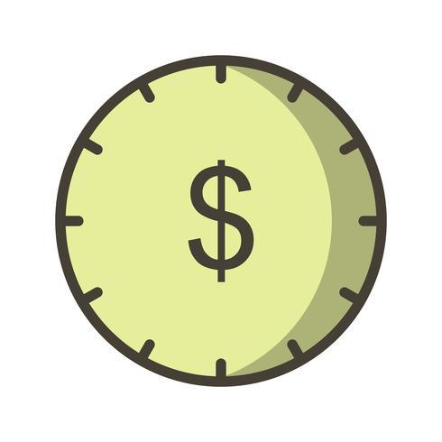 El tiempo es dinero Vector icono
