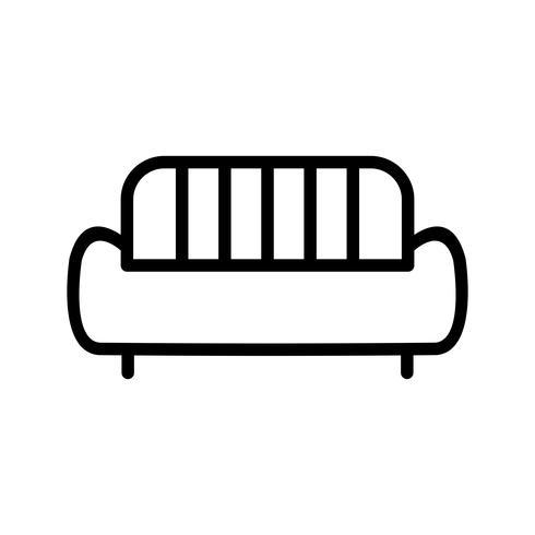 soffa vektor ikon