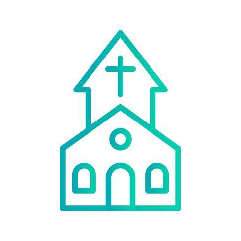 Kirche-Vektor-Symbol vektor