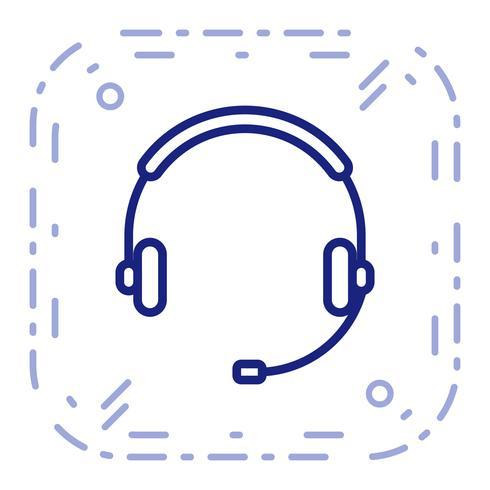 Icône de vecteur de services à la clientèle
