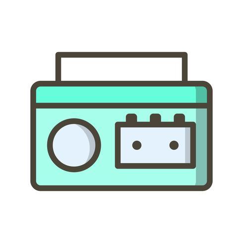 Kassettenspieler-Vektor-Symbol