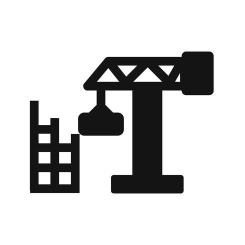 Icône de vecteur de construction maison