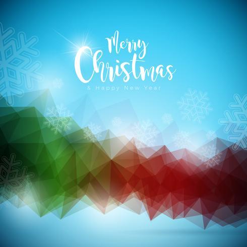 Joyeux Noël et bonne année Illustration sur avec la typographie sur fond abstrait. Conception de vecteur EPS 10.