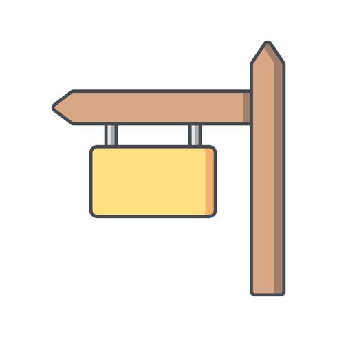 Icona di vettore del bordo del segno