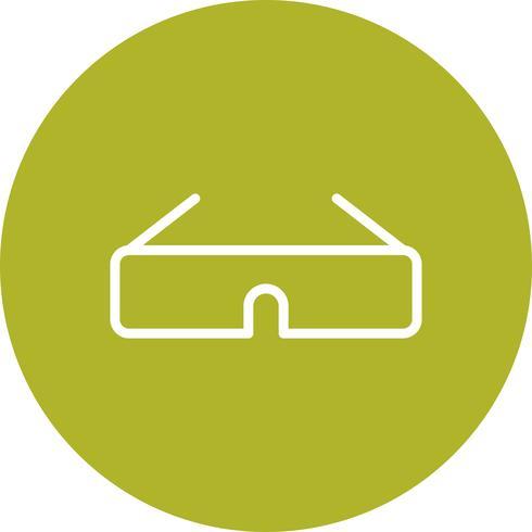 Vektor-Ikone der Gläser 3d