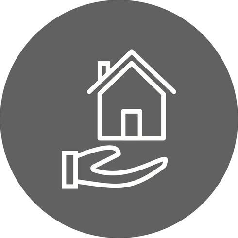 Ícone de vetor de hipoteca