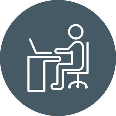 Vector Using Laptop Icon